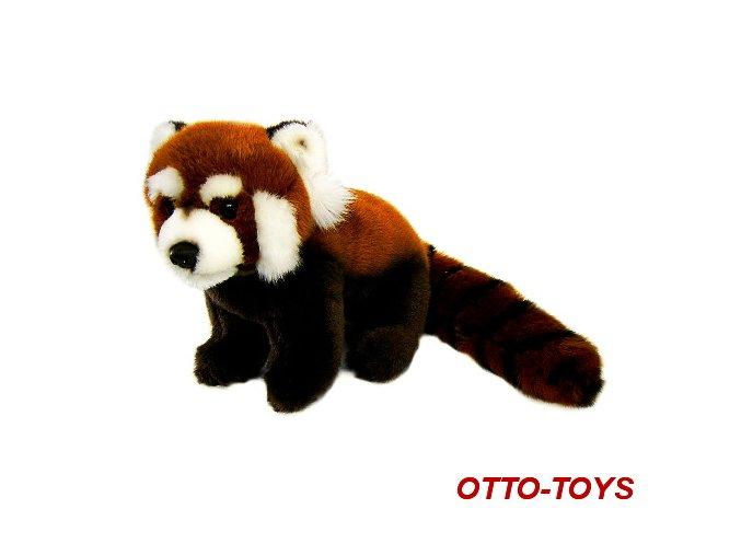malá plyšová panda červená