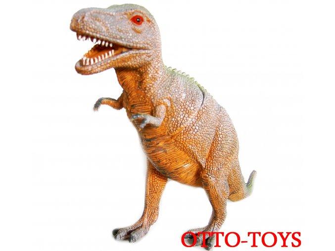 Velký dinosaurus z tvrdů gumy.