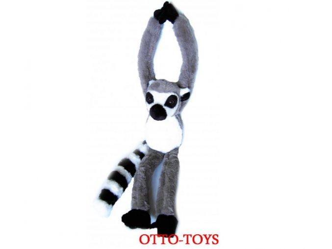 plyšový lemur na suchý zip