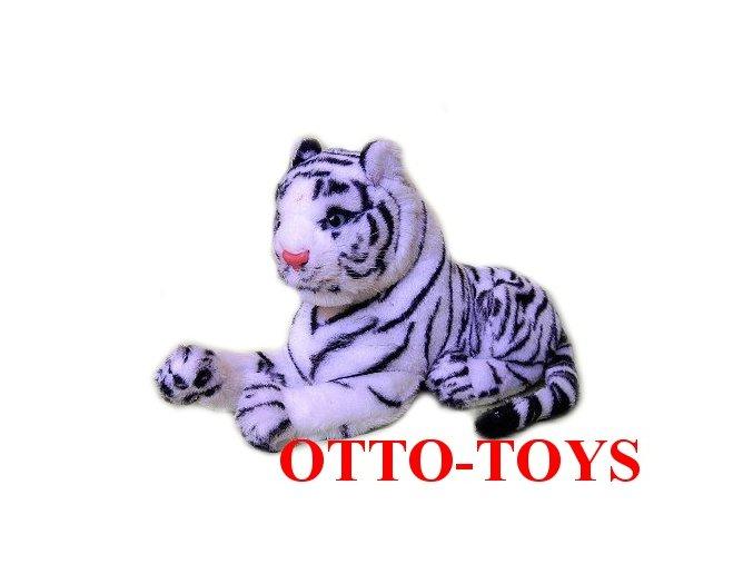 Bílý plyšový tygr