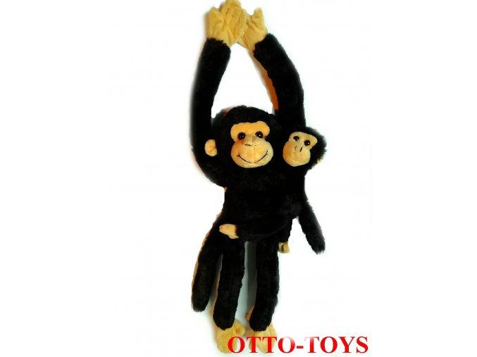 Plyšový šimpanz s miminkem