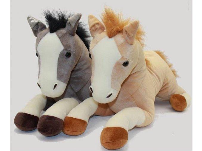 Plyšový ležící kůň