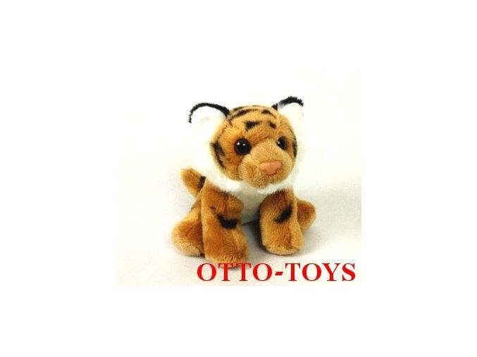 Plyšový tygr hnědý levný malý
