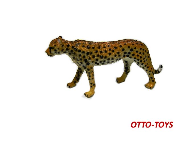 Gumový gepard 10cm