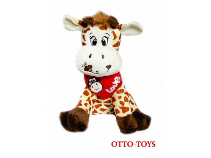 Plyšová žirafa se srdíčkem