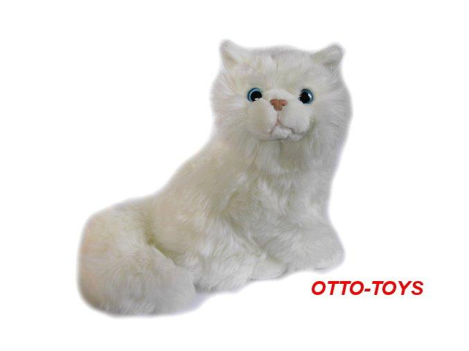 Plyšová kočička bílá
