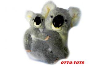Plyšová koala s mládětem