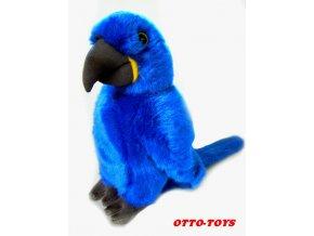 Plyšový papoušek modrý 27cm