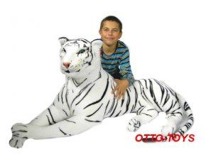 Maxi obrovský plyšový tygr bílý