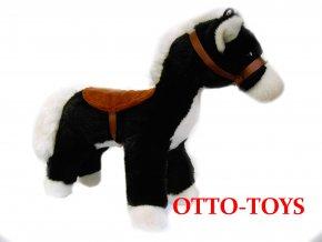 Plyšový černý kůň