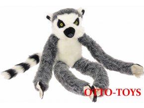 Dlouhý plyšový lemur packy na suchý zip