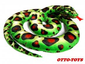 plyšový had velký 3m