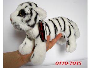 Miminko plyšový tygr bílý stojící