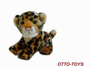 Plyšový leopard sedící 20cm