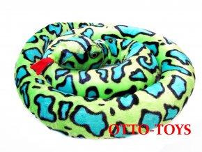 zelený velký plyšový had