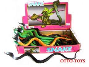 Gumový had - hadi z měké gumy