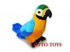 Plyšový papoušek žlutý