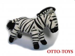 Malá plyšová zebra
