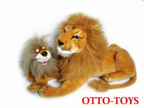 Plyšový lev s mládětem