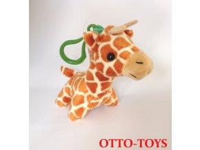 Plyšová žirafa přívěšek