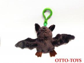 malý plyšový netopýr přívěšek