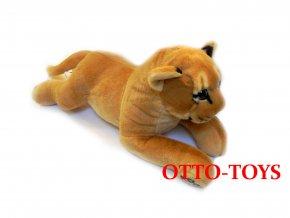 Ležící plyšová lvice 45cm