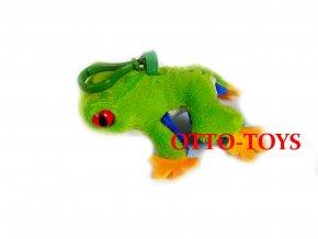 malá levná plyšová žába přívěšek