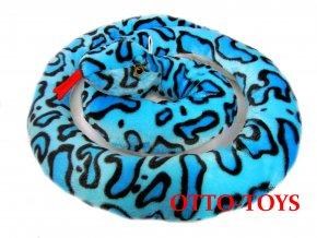 velký plyšový had modrý