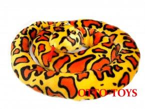 velký plyšový had žlutý