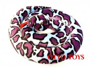 velký plyšový had fialový