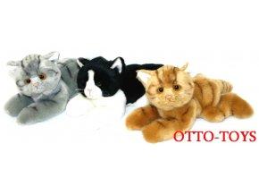 Ležící plyšové kočičky