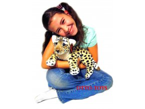 Ležící plyšový leopard