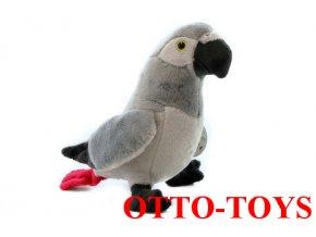 plyšový papoušek žako
