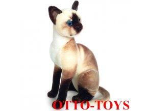 Velká plyšová kočka Siamská