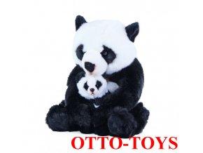 plyšová panda s mládětem