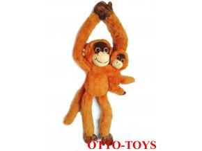 Plyšová opička s mládětem