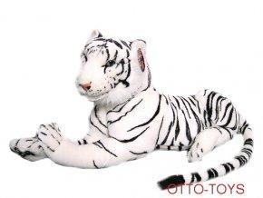 Plyšový tygr bílý 110cm s ocáskem
