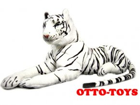 Velký plyšový tygr 150cm bílý