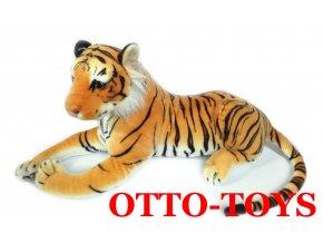 Plyšový tygr velký bílý 45cm