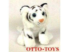 Plyšový bílý tygr 18cm