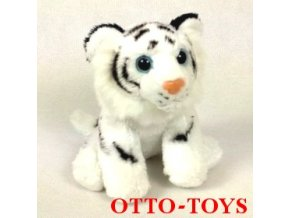 Plyšový bílý tygr malý levný