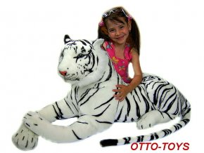 Plyšový tygr bílý velký 180cm