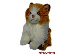 Plyšová kočička zrzavá 23cm