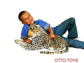 Velký plyšák plyšový leopard 85cm