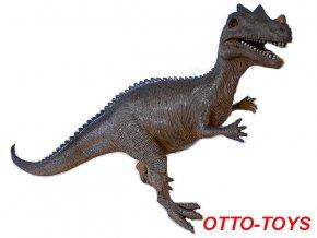 velký stojící gumový dinosaurus