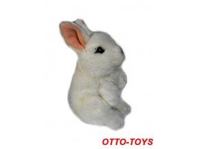 plyšový králík bílý