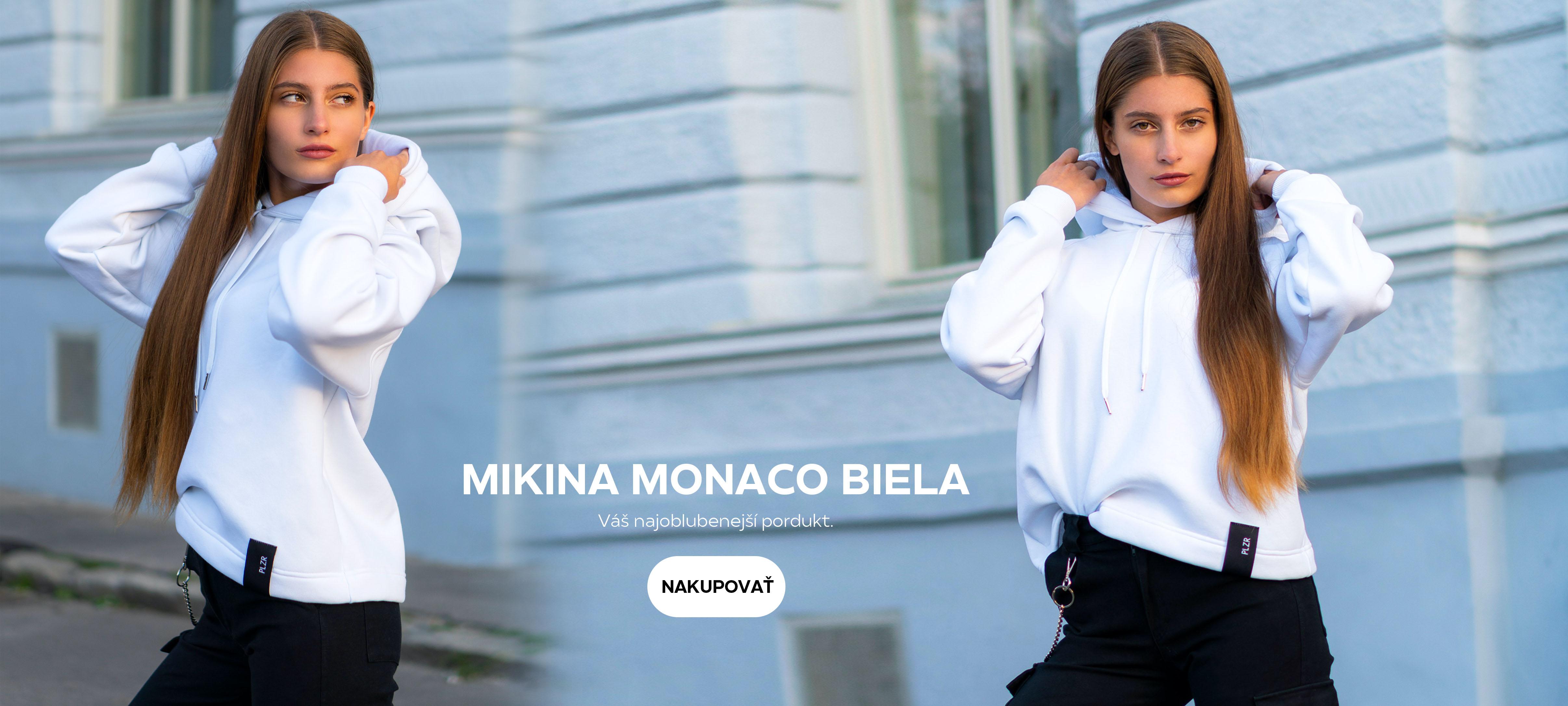 Mikina MONACO BIELA