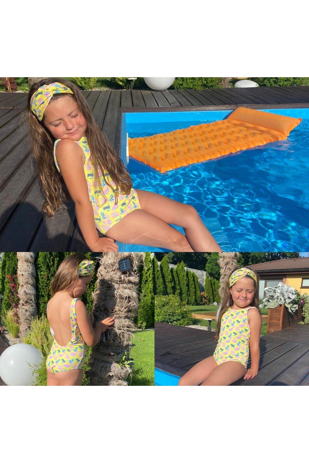 Jednodielne plavky detské BEACH 1