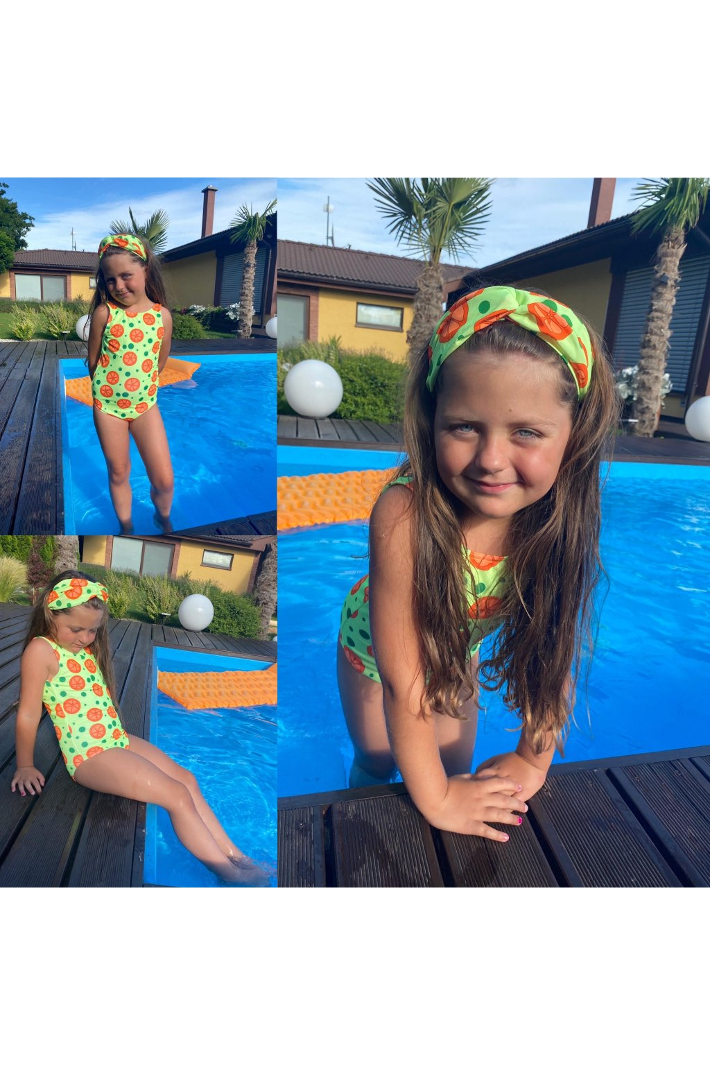 Jednodielne plavky detské ORANGE 1