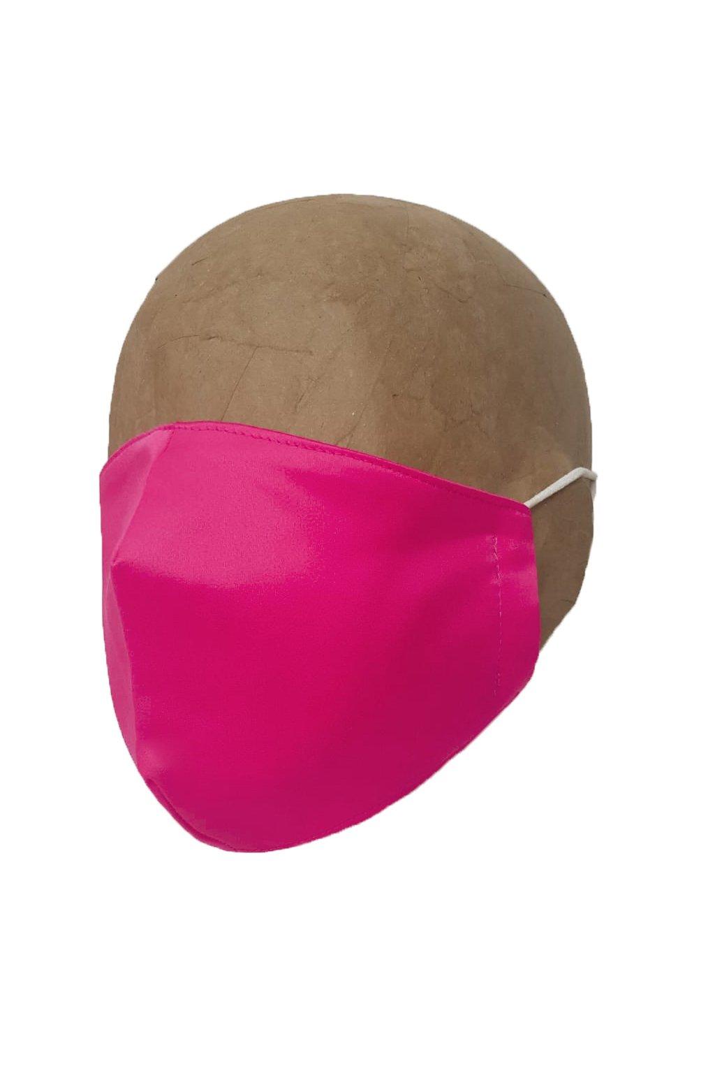 Rúško RASPBERRY PINK s iónmi striebra UNISEX A